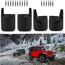 SMALLFATW 2018 2019 New Jeep Wrangler JL JLU Strong NO-Drill Mud Guard 4pcs Upgrade Mud Flaps Splash Guards Front and Rear Fender Flares (Matte Black)