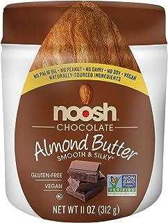 NOOSH Chocolate Almond Butter - Naturally Sourced Ingredients, Vegan, Gluten Free, Non GMO, Kosher, Peanut Free, Soy Free, Dairy Free, No Palm Oil… (11oz Jar)
