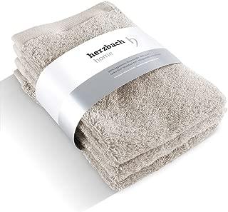 Cotone 600 g//m2 Sandgrau 86 x 200 cm Set di 2 Teli da Sauna 100/% Cotone Egiziano herzbach home 86 x 200 cm