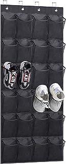 KEETDY Over The Door Shoe Organizer Hanging with 24 Large Mesh Pockets Shoe Rack Holder Storage Hanger for Closet Door for...