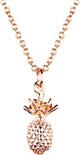 Pineapple Necklace in Gold Silver Rose Gold 3D Pendant Necklace Mother's Day Jewelry Gift