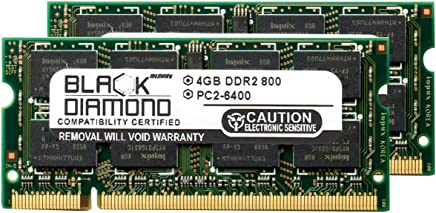 8GB 2X4GB Memory RAM for Sony VAIO VGN-NW Series NW270F (PCG-7184L) 200pin 800MHz PC2-6400 DDR2 SO-DIMM Black Diamond Memory Module Upgrade