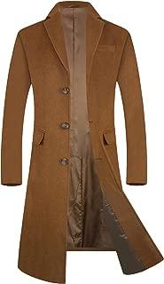 Men's Trench Coat 80% Wool Content French Long Jacket Winter Business Top Coat