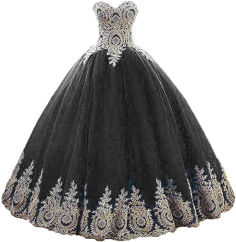 Vantexi Damen A-Linie Liebsten Lang T/üll Formellen Abendkleid Ballkleid Brautkleider