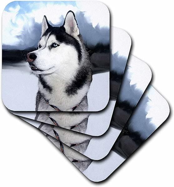 Dogs Siberian Husky Siberian Husky Set Of 4 Ceramic Tile Coasters Cst 4438 3