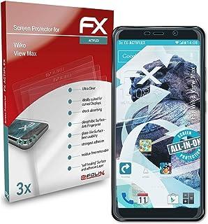 atFoliX Skärmskydd är kompatibel med Wiko View Max Film, ultraklart och flexibelt FX Skärmskyddsfilm (3X)