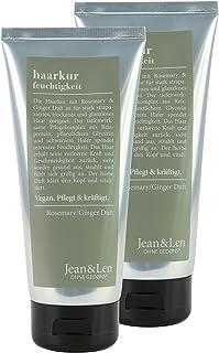 Jean & Len Haarkur Feuchtigkeit, Rosemary & Ginger, Feuchtigkeitsspender für trockenes, sprödes Haar, ohne Parabene und Si...