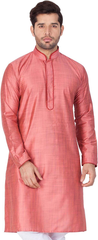 Elina fashionMen's Tunic Cotton Silk 5 ☆ very popular free Kurta Set Pajama Indian