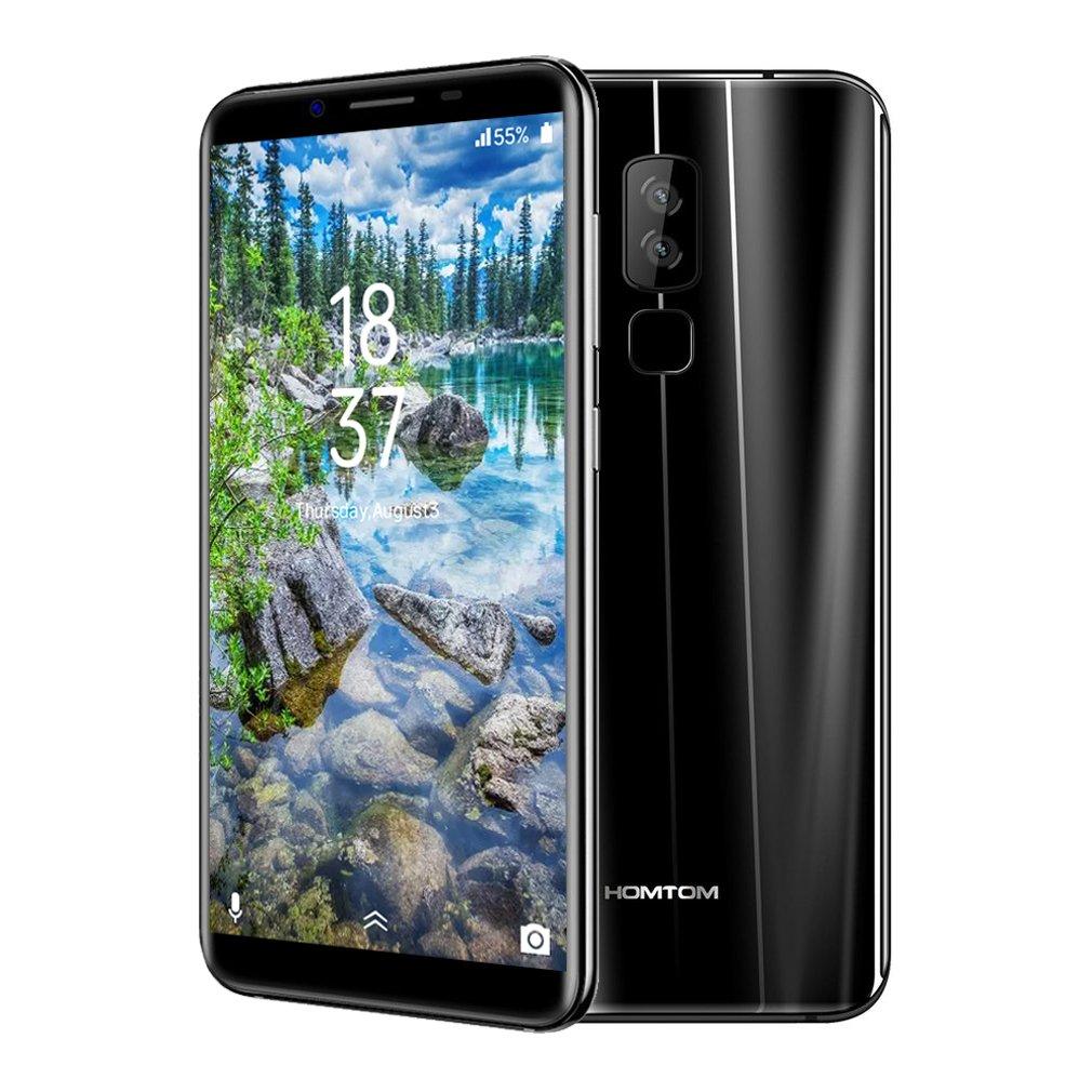 HOMTOM S8 Smartphone de 5,7 Pulgadas,Teléfonos Móviles Libres (Android 7.0, 4GB de RAM, 64GB de ROM, Cámara Doble Trasera de 16MP + 5MP, Carga Rápida),Negro: Amazon.es: Electrónica