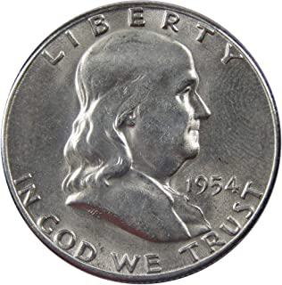 1954 S 50c Franklin Silver Half Dollar US Coin Uncirculated Mint State