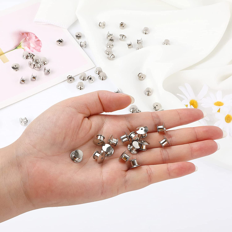 30 Pieces Metal Pin Backs Locking Pin Keepers Locking Clasp : Arts, Crafts & Sewing