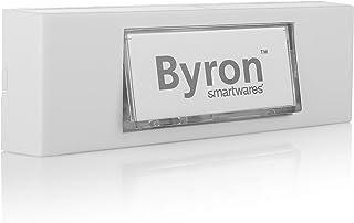 Byron 7750 Bedrade universele belknop in wit met beschrijfbaar naamplaatje, 12 V