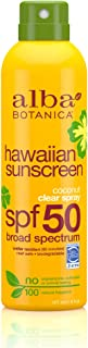Alba Botanica Sunscreen Spray with Coconut Oil, SPF 50, 6oz