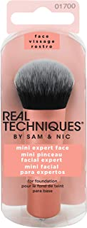 Real Techniques Mini Travel Size Expert Face Makeup Brush for Foundation (Packaging and Handle Colour May Vary)