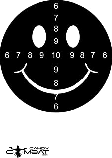 iCandy Combat Black Smiley Face Paper Shooting Target