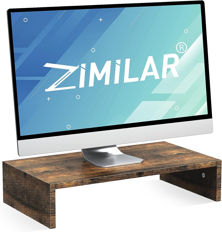 Zimilar Monitor Stand Riser, Wood Monitor Riser for Screen, PC, Laptop, Desktop, Printer, 16.5inch Premium Computer Stand Riser for Home & Office Desk