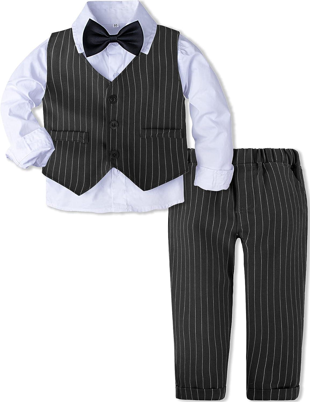 AJ Price reduction Cheap sale DESIGN Baby Toddler Boys Gentleman Set Suit 3pcs Sh Outfits