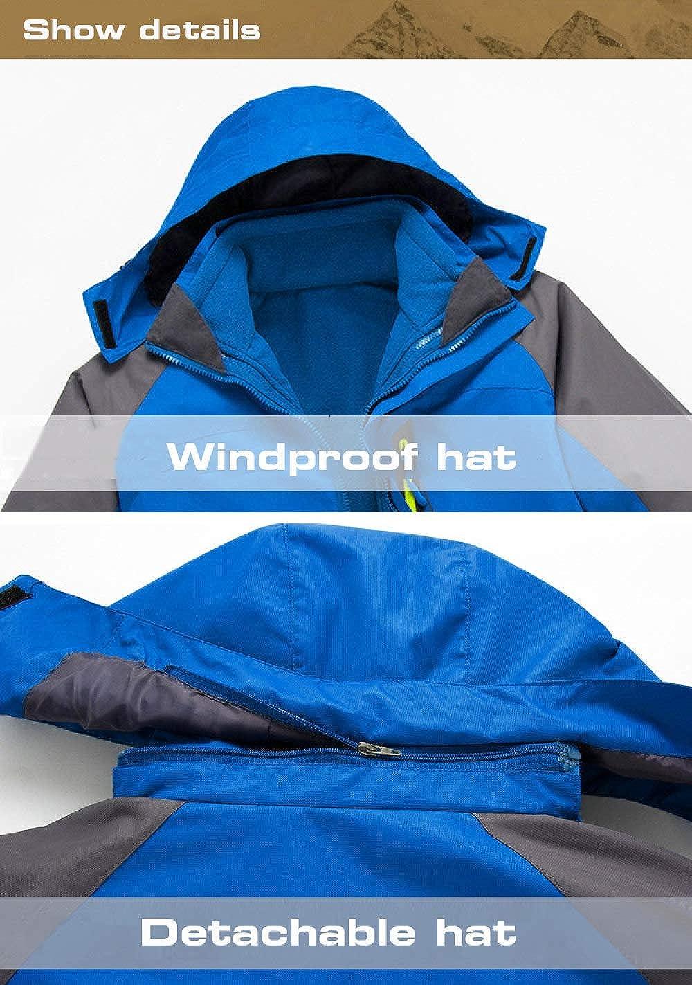 TTYYNN SkianzugSkianzug f/ür Herren Fleece Warm Windproof wasserdichte Skianz/üge Snowboard Set M/ännliche Outdoor-Skijacke///Softshell Pant