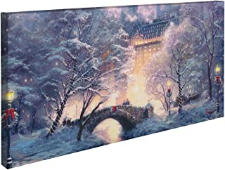 Thomas Kinkade Holiday at Central Park 16 x 31 Gallery Wrapped Canvas