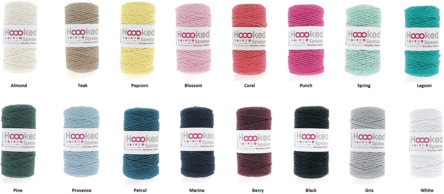 . Almond Hoooked Fil recycl/é Spesso Chunky Cotton