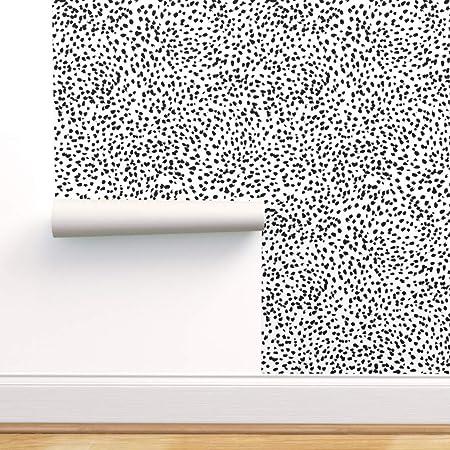 Black and White Self Adhesive Mural Dalmatian Spots Removable Wallpaper