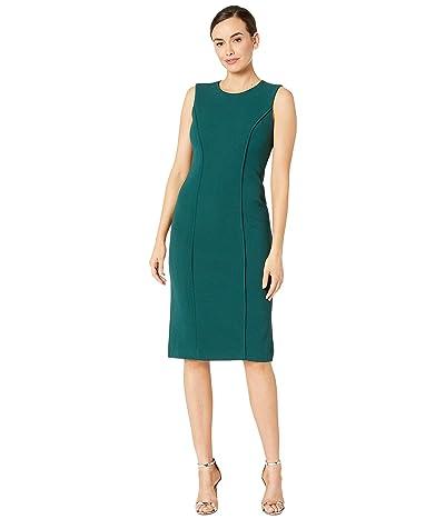 Maggy London Metro Knit Solid Sheath Dress (Irish Moss) Women