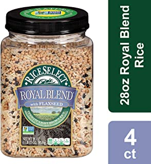 RiceSelect Royal Blend with Flaxseed Rice, 28 oz (Pack of 4)