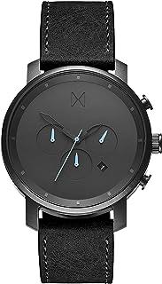 ساعة يد كرونو بمينا برونزي وسوار جلدي اسود للرجال من ام في ام تي - D-MC01-GUBL