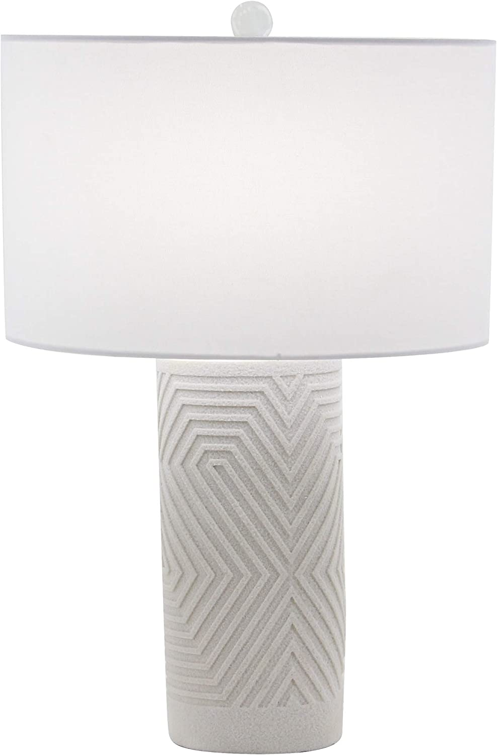 Deco 79 Table Lamps, Large, Cream White