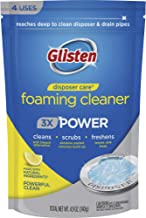 Glisten Disposer Care Foaming Drain/Pipe Cleaner, 4.93 Ounce (Pack of 4), White, Blue, 4 per Pack