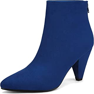 DREAM PAIRS Women's Pointed Toe High Heel Ankle Booties