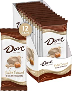 DOVE Salted Caramel Blonde Chocolate Bars, 3.30-Ounce Bar (Pack of 12)