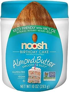NOOSH Keto Birthday Cake Almond Butter 11 oz Jar - Vegan, Gluten Free, Kosher, Non GMO, No Soy, No Dairy, No Peanuts, Keto Friendly, low carb