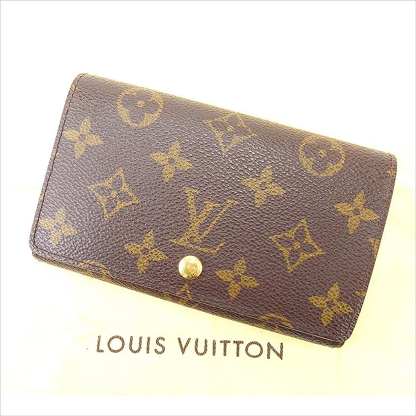 チラチラする製作起業家ルイヴィトン Louis Vuitton L字ファスナー財布 二つ折り ユニセックス ポルトモネビエトレゾール M61730 モノグラム 中古 E630