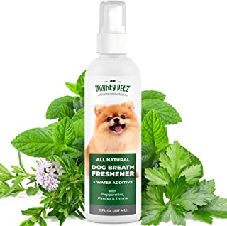 2-in-1 Dog Breath Freshener Spray & Water Additive – All Natural Dog Dental Care That Fights Bad Breath, Plaque & Tartar. ...