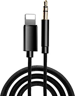iPhone Aux Cable, 3.5mm Nylon Braided AUX Audio Adapter, Car Aux Audio Cable for iPhone 7/7+/8/8+/X/XS/XR/XS MAX and Other...