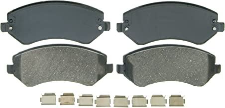 Wagner QuickStop ZD856A Ceramic Disc Pad Set Includes Pad Installation Hardware, Front