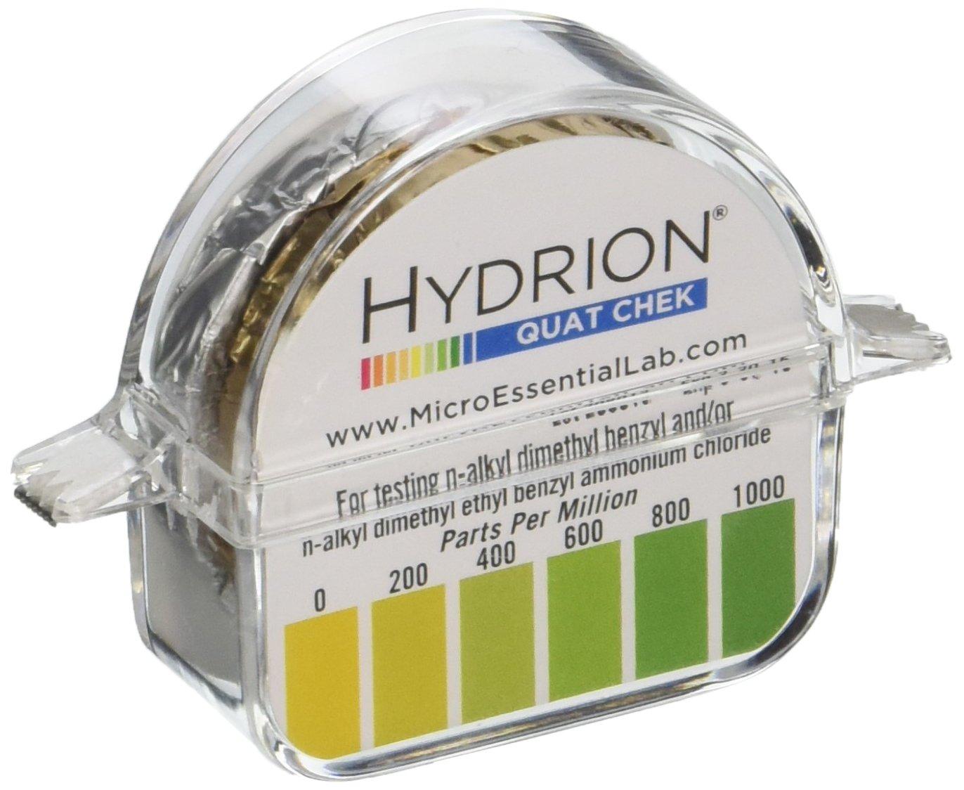 Micro Essential Lab QK-1000 Plastic Hydrion Quat Check Test Pape