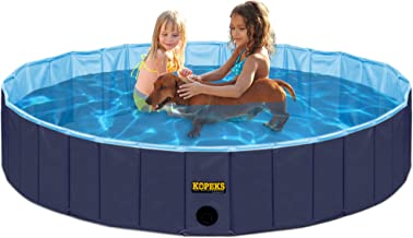 Sponsored Ad – Outdoor Swimming Pool Bathing Tub - Portable Foldable - Ideal for Kids or Pets - 120 x 30 cm - Dark and Lig...