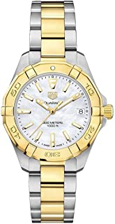 Aquaracer Mother of Pearl Dial Ladies Two Tone Watch WBD1320.BB0320