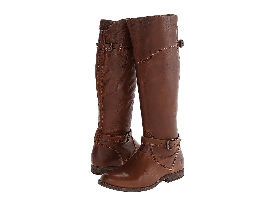 Frye Phillip Riding (Cognac Soft Vintage Leather) Cowboy Boots