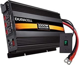 Duracell Power DRINV3000 Black 3000 W High Powered Inverter (Renewed)