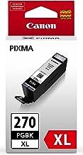 Canon PGI-270XL Pigment Black Ink-Tank Compatible to MG6820, MG6821, MG6822, MG5720, MG5721, MG5722, MG7720, TS5020, TS602...
