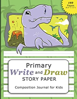 Primary Write and Draw Story Paper Composition Journal for Kids (160 pages 8.5