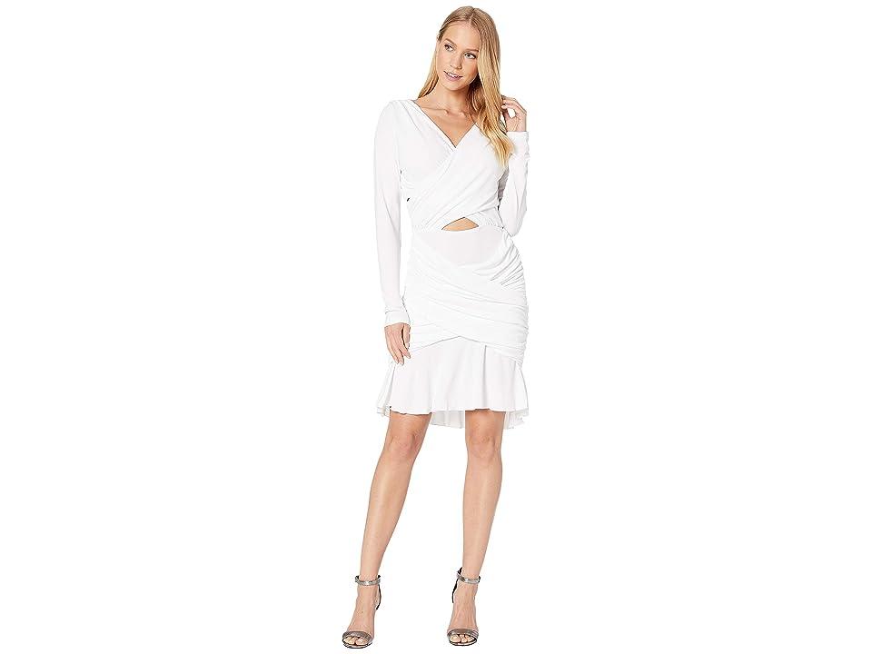 Bebe Quinn Ruched Mini Dress (Bright White) Women