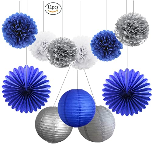 Royal Blue And Silver Decorations Amazoncom
