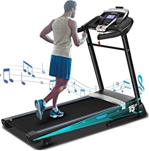 FUNMILY 3.25HP Folding Treadmill, Electric Automatic Incline Treadmill, Motorized Walking Running Jogging Machine for Gym Home & Office Workout
