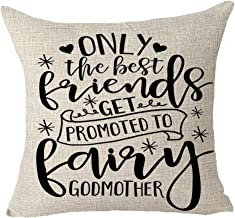 FELENIW Only The Best Friends Can Get Promoted to Fairy Godmother Heart Funny Gift to..