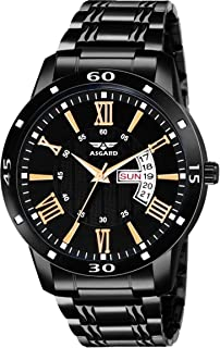 ASGARD Day & Date Feature Black Watch for Men, Boys