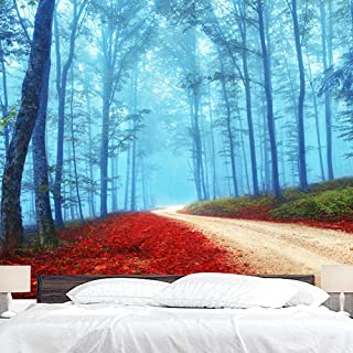 """BJYHIYH Misty Forest Tapestry Wall Hanging Nature Tree Tapestries for Bedroom Living Room Dorm Decor(90.6""""×59.1"""")"""